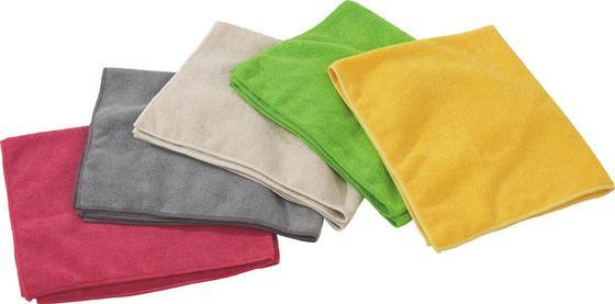 Mikrofasertuch Set Elinja, 5 Stk. - Pink/Gelb, KONVENTIONELL, Textil (50/60cm) - Ombra