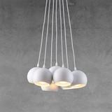 Závesná Lampa Emanuella - biela, Moderný, kov (15cm) - MODERN LIVING