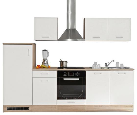 Küchenblock Welcome Andy 270cm Weiß - Weiß/Sonoma Eiche, MODERN, Holzwerkstoff (270/195/60cm)