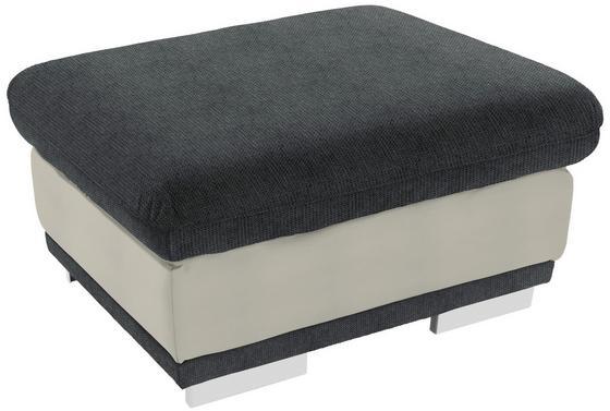 Taburet Seaside - bílá/šedá, Konvenční, textilie (97/47/67cm) - Luca Bessoni