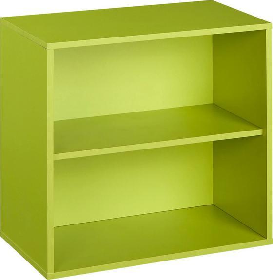 Polc Box - Zöld, modern, Faalapú anyag (46/46/25cm)