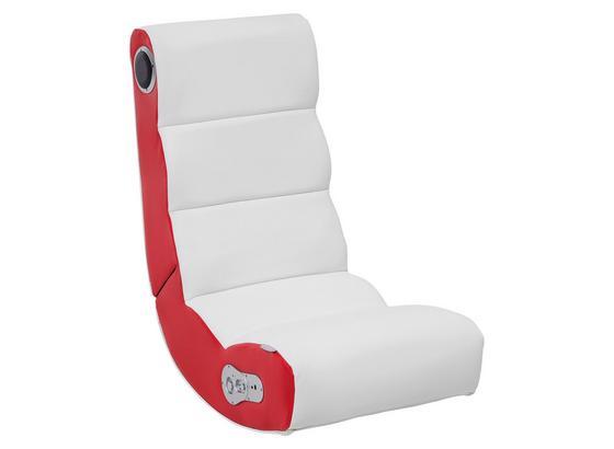 Gamingstuhl Wobble B: 56 cm Rot/Weiß - Rot/Weiß, Design, Textil (56/100/82cm) - Livetastic