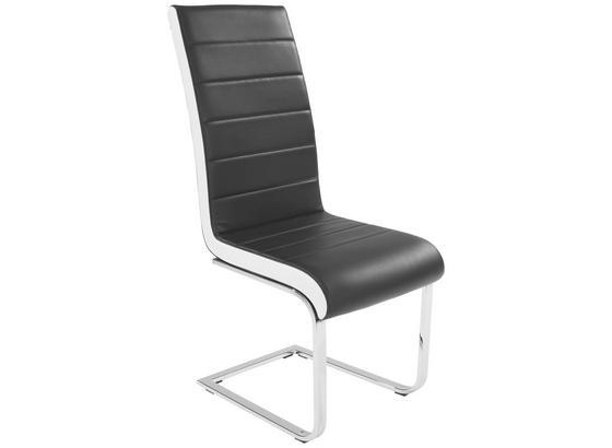 Stolička Alex - čierna/biela, Konvenčný, kov/textil (43/103/55cm)