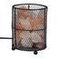 Stolní Svítidlo Solti - pink/černá, Lifestyle, kov/kámen (13/17cm) - Modern Living