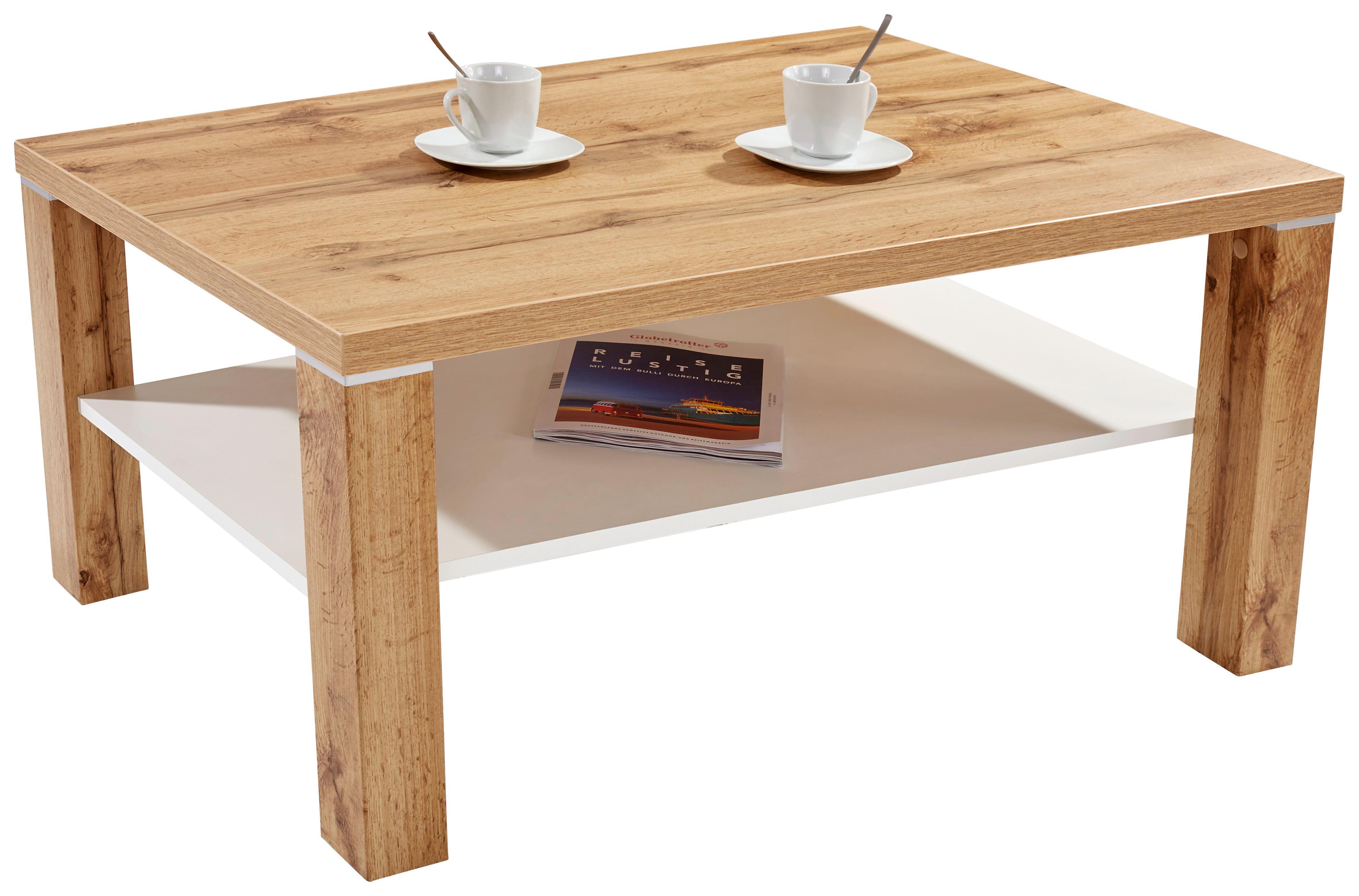 Dohányzóasztal Coffee - tölgy színű/vörösfenyő szín, modern, faanyagok (110/45/67cm)
