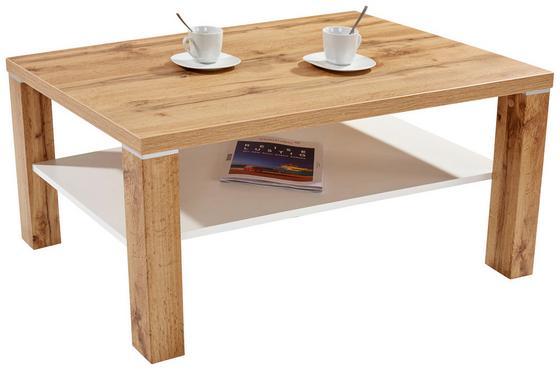 Dohányzóasztal Coffee - Tölgyfa/Vörösfenyő, modern, Faalapú anyag (110/45/67cm)