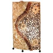 Tischlampe Muschel Braun Textil mit Ornamenten - Braun, MODERN, Naturmaterialien/Textil (34/16/50cm)