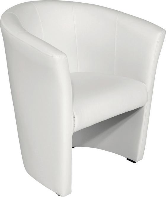 Fotel Hugo - fehér, modern, textil (69/76/59cm) - OMBRA