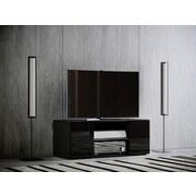 TV-Lowboard Lowina B: 95 cm Weiß/Schwarz - Schwarz/Weiß, KONVENTIONELL, Holzwerkstoff (95/40/36cm) - MID.YOU