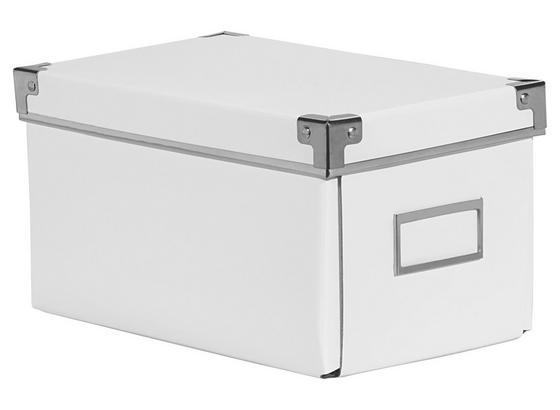 Cd-/dvd-box Lorenz - biela, kartón/kov (26/15,5/14cm) - Mömax modern living