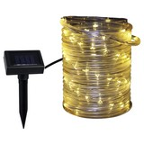 Solarleuchte Tabea - Transparent/Schwarz, KONVENTIONELL, Kunststoff (655cm) - Homezone