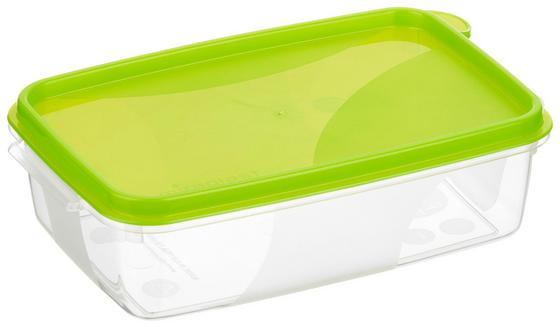 Frischhaltebox 0,5 Liter - Blau/Rot, KONVENTIONELL, Kunststoff (10/5/15cm)