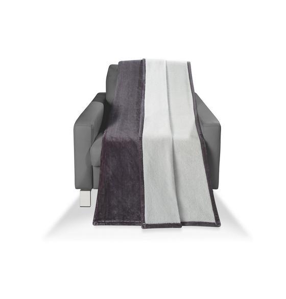 Wohndecke Carmina 150x200 cm - Anthrazit/Hellgrau, KONVENTIONELL, Textil (150/200cm) - Luca Bessoni