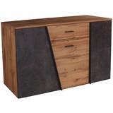 Sideboard Venedig B:150cm Wotan Eiche Dekor/Betonoptik - Eichefarben/Dunkelgrau, MODERN, Holzwerkstoff (150/87/40cm)