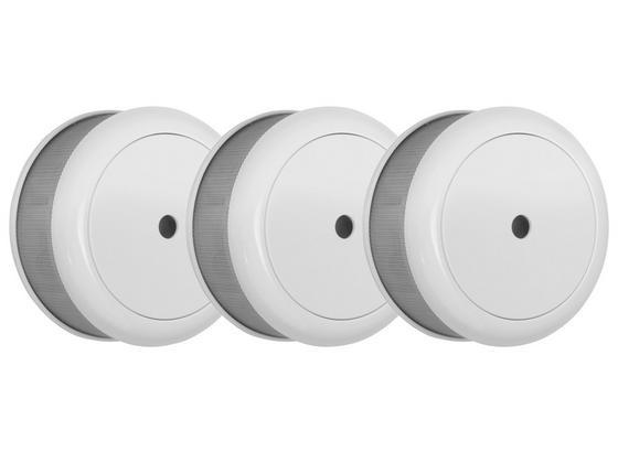 Rauchmelder 3er Pack FSM-16023 - Weiß, MODERN, Kunststoff (7/3,4cm)