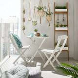Sada Na Balkon Stacy - bílá, dřevo (58/73/58cm) - MÖMAX modern living