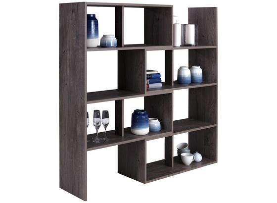 Regál Erich - farby dubu, Moderný, kompozitné drevo (154/146,5/33,4cm)
