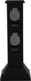 Erdspießsteckdose Mali - Schwarz/Grau, MODERN, Kunststoff (16/16/40cm)