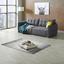 Bigsofa mit Bettfunktion und Bettkasten Modena Webstoff - Anthrazit/Silberfarben, Natur, Textil (223/92/107cm) - Luca Bessoni