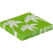 Servítky Palmen - biela/zelená, papier (33/33cm)