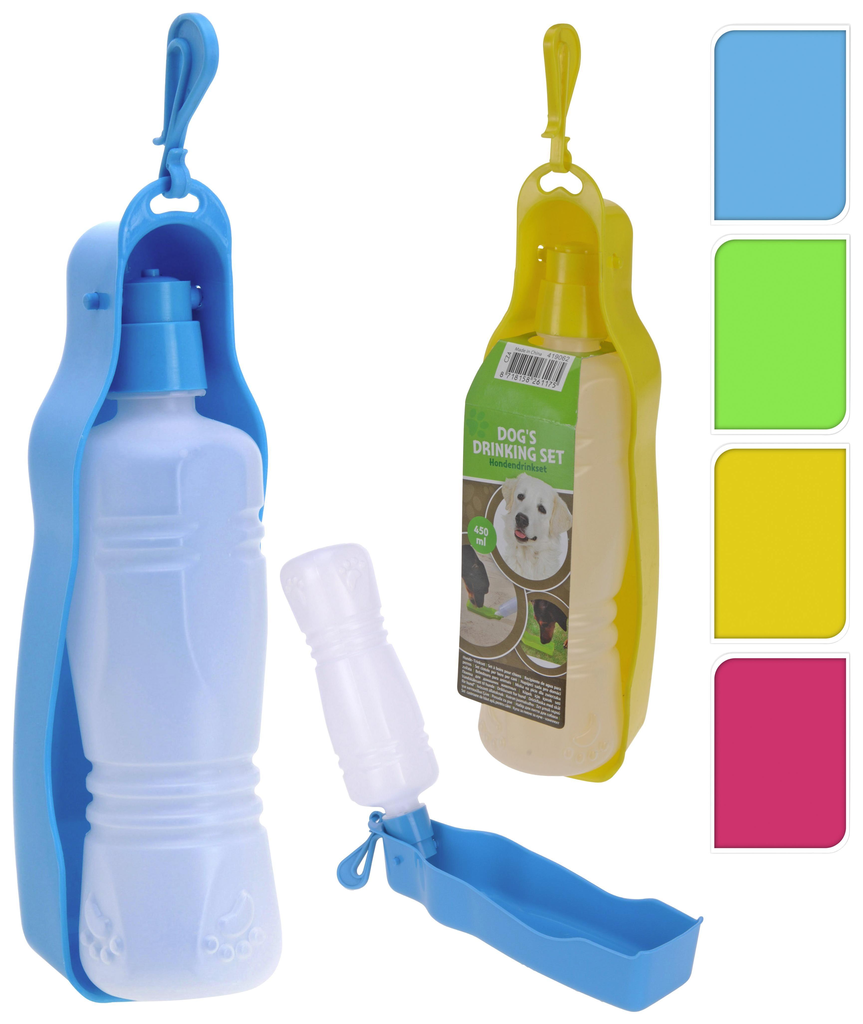 Hunde-trinkflasche Spike - Blau/Pink, Basics, Kunststoff (26/7,5/6,5cm)