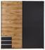 Schwebetürenschrank Emden - Eichefarben/Graphitfarben, MODERN, Holzwerkstoff (180/198/64cm)