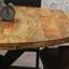 Esstisch Industrial Round B: 120 cm - Schwarz/Braun, Natur, Holz/Metall (120/120/77cm) - Livetastic