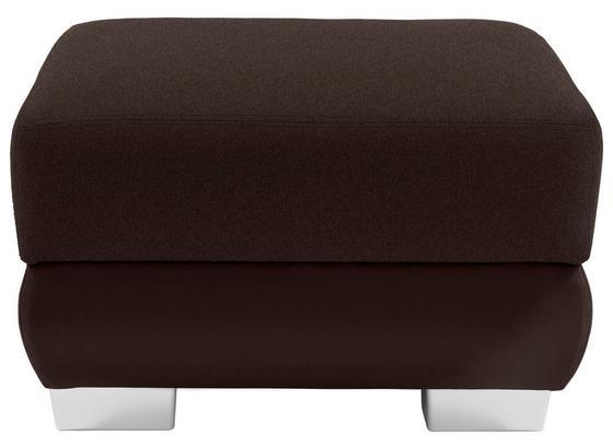 Taburet Miami - tmavě hnědá/hnědá, Moderní, kov/dřevo (68/42/53cm)