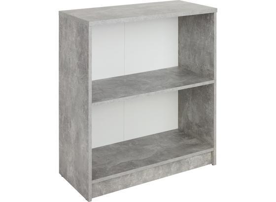Regál 4-you New Yur01 - sivá/biela, Moderný, kompozitné drevo (74/85,5/34,6cm)