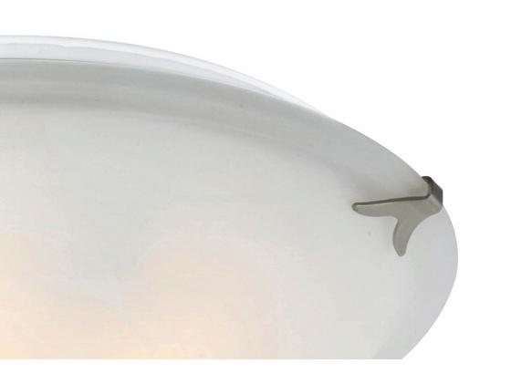 Deckenleuchte Fred - Weiß, KONVENTIONELL, Glas/Metall (40/12cm) - Ombra