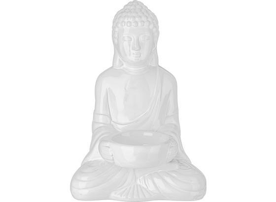 Držiak Na Čajové Sviečky Buddha - biela, Štýlový, keramika (11,6/9/16,7cm) - Mömax modern living