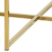Beistelltisch Marmor-Look Rund Alisma, Gestell Gold - Goldfarben/Braun, Trend, Holzwerkstoff/Metall (50/50/43cm) - Carryhome