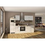 Küchenblock Mailand Gsp B: 280 cm Weiß - Eichefarben/Weiß, Basics, Holzwerkstoff (280/200/60cm) - MID.YOU