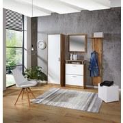 Garderobenset Pop - Eichefarben/Weiß, MODERN, Holzwerkstoff (179/190/32cm)
