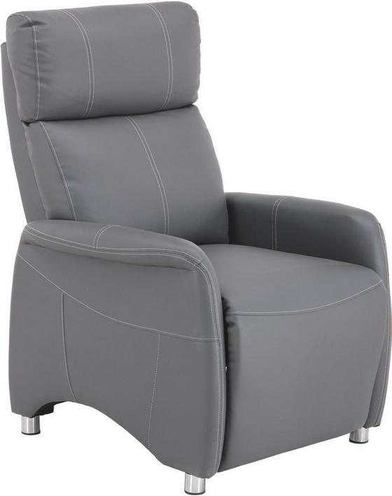 Tv-fotel Spirit - fehér/szürke, modern, textil/fa (78/113,5/90cm) - LUCA BESSONI
