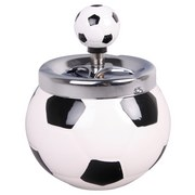 Drehascher Fußball - Schwarz/Weiß, Keramik (12/15cm)