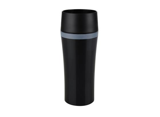 Isolierbecher 514179 'travel Mug' - Schwarz, Basics, Kunststoff/Metall (0,36l)