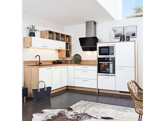 Rohová Kuchyň Win - bílá, kompozitní dřevo (185/305cm) - Express