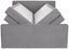 Boxspringbett Naomi 180x200 Grey - Hellgrau/Schwarz, KONVENTIONELL, Holz/Holzwerkstoff (180/200cm)