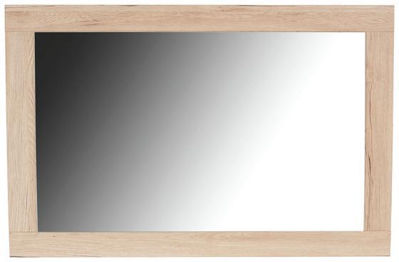 Nástenné Zrkadlo Malta - farby dubu, Moderný, drevený materiál (95/68/2,1cm)