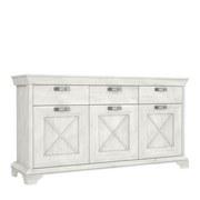 Kommode Kashmir B: 178 cm - Weiß/Pinienfarben, Basics, Holzwerkstoff/Kunststoff (178,3/95,9/48,2cm) - MID.YOU