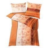 Jersey Bettwäsche Ferrara, Chili - Goldfarben, MODERN, Textil - Kleine Wolke