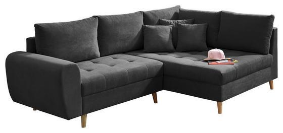 Eck-Sofa in Anthrazit