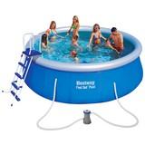 Schwimmbecken Fast Set Pool 57289 - Blau, Kunststoff (457/122cm) - Bestway