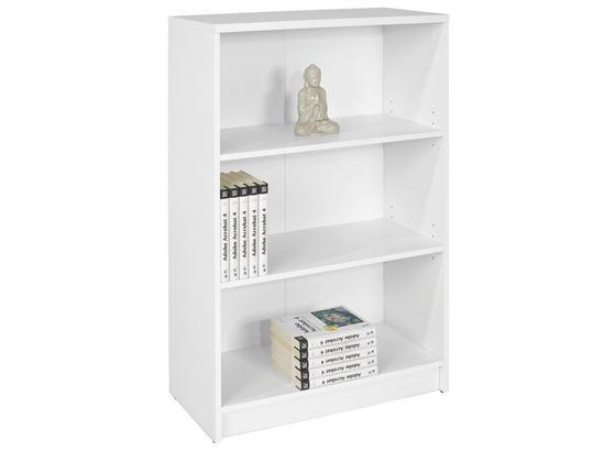 Regal B:74cm Weiß Dekor - Weiß, MODERN, Holzwerkstoff (74/111,5/35,2cm)