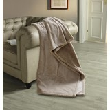 Felldecke Oliva - Braun, ROMANTIK / LANDHAUS, Textil (140/190cm) - James Wood