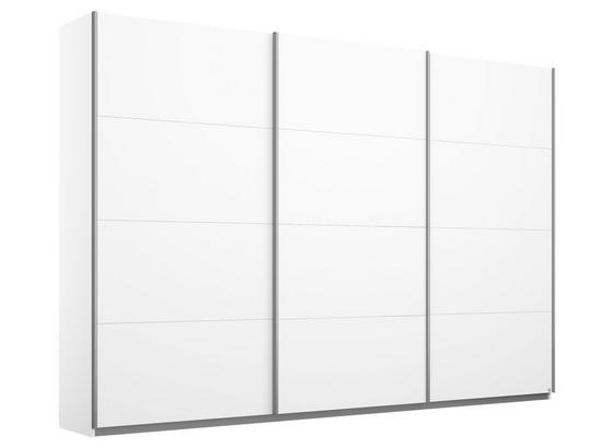 Schwebetürenschrank 271cm Belluno, Weiß Dekor - Weiß, MODERN, Holzwerkstoff (271/210/62cm)