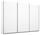 Schwebetürenschrank Belluno 271 cm Weiß - Weiß, MODERN, Holzwerkstoff (271/210/62cm)