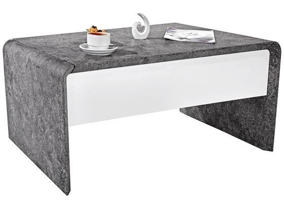 Konferenční Stolek Mailand - bílá/tmavě šedá, Moderní, kov/kompozitní dřevo (110/45-70,5/60cm)