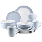 Kombiservice Kitchen Time II 16-Tlg. - Hellblau, Basics, Keramik